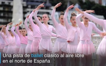 San Sebastián en España, presume sus bailarinas de ballet clásico